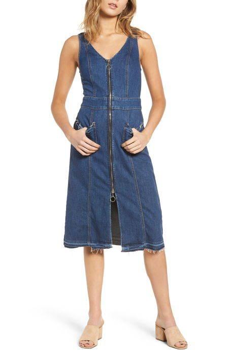 sleeveless denim dress ノンスリーブ デニム ドレス ワンピース レディースファッション