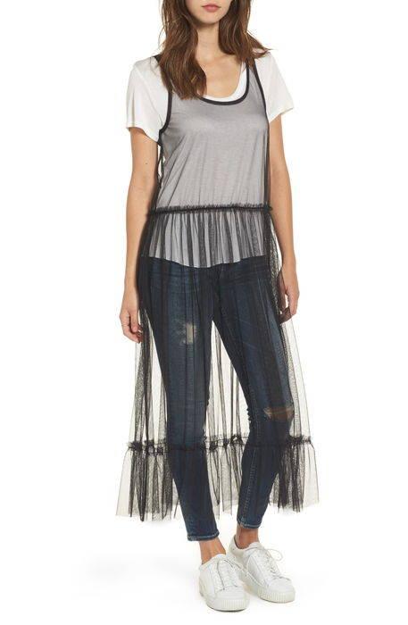 tulle drop waist midi dress チュール ドロップ ウェスト ミディ ドレス ワンピース レディースファッション