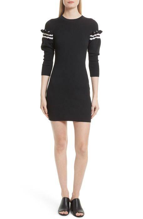 ruffle sleeve knit dress ラッフル スリーブ ニット ドレス ワンピース レディースファッション