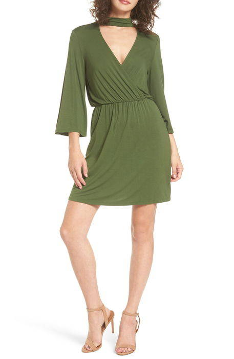 surplice choker dress チョーカー ドレス ワンピース レディースファッション