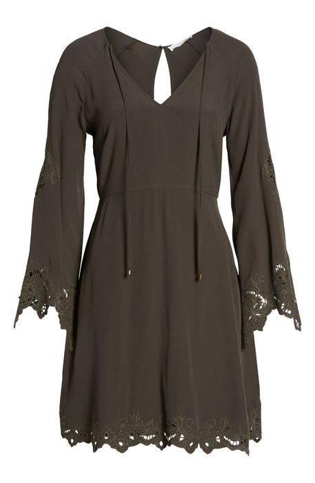 fern fit flare dress フィット & フレアー ドレス ワンピース レディースファッション