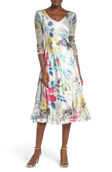lace charmeuse aline dress レース & エーライン ドレス ワンピース レディースファッション