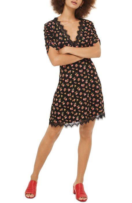 floral tea dress フローラル ティー ドレス ワンピース レディースファッション