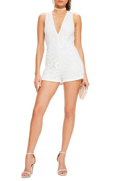 sleeveless crochet romper ノンスリーブ ロンパース オールインワン サロペット レディースファッション