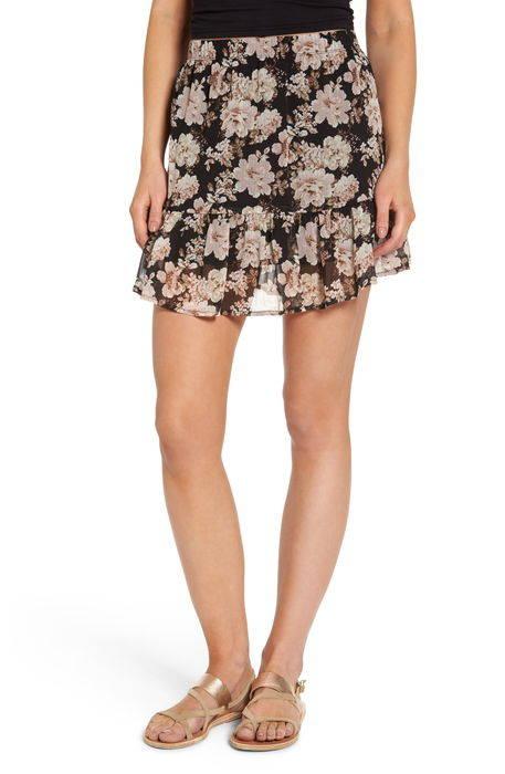 floral print drop waist skirt フローラル プリント ドロップ ウェスト スカート レディースファッション ボトムス