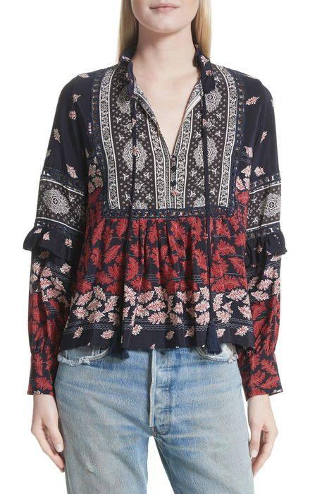 eloise print silk blouse エロイーズ プリント シルク ブラウス レディースファッション シャツ トップス