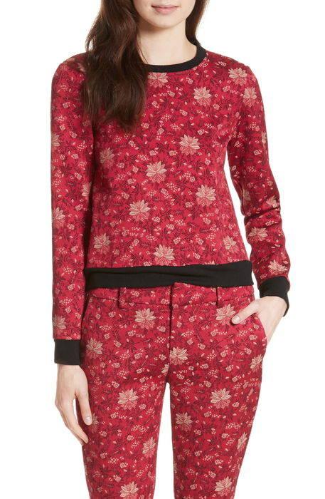 marylou floral jacquard sweatshirt フローラル ジャガード トレーナー レディースファッション ブラウス トップス シャツ