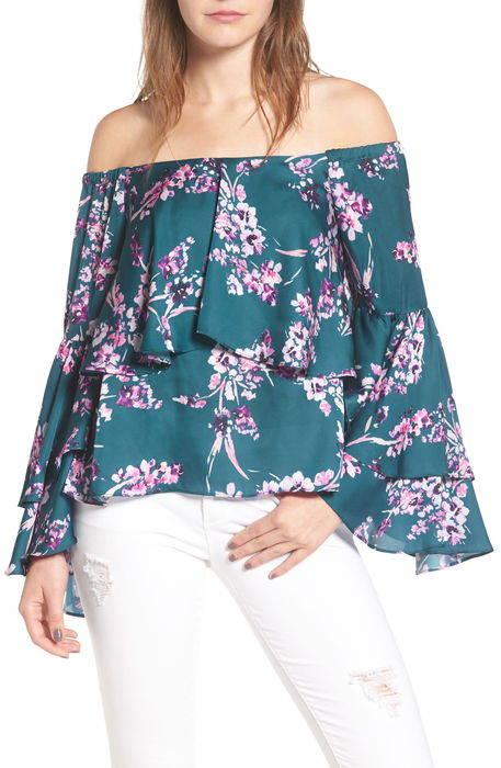 chelsea off the shoulder ruffle blouse チェルシー オフ ショルダー ラッフル ブラウス トップス シャツ レディースファッション