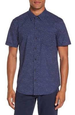 ドット プリント ウーブン シャツ becker dot print woven shirt トップス カジュアルシャツ メンズファッション