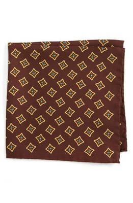 シルク ポケット スクエア medallion silk pocket square バッグ ブランド雑貨 小物 スーツ用ファッション小物 チーフ