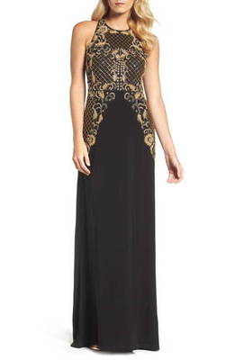 ビーズ ガウン beaded gown ドレス レディースファッション