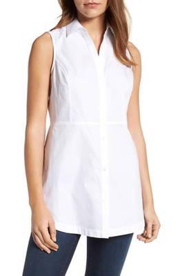 スリーブレス コットン sleeveless cotton tunic シャツ レディースファッション トップス ブラウス