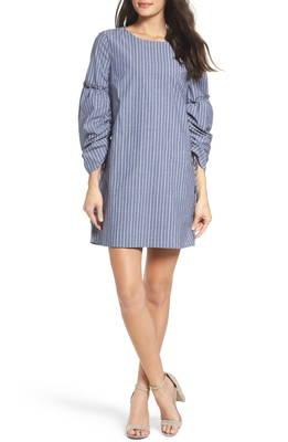 スリーブ ポプリン シフト ドレス ワンピース ruched sleeve poplin shift dress レディースファッション