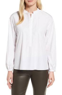 ストライプ シャツ high low stripe highlow shirt ブラウス レディースファッション トップス