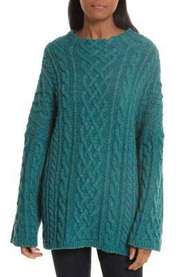 オーバーサイズ フィッシャーマン セーター oversize fisherman cableknit sweater トップス レディースファッション ニット