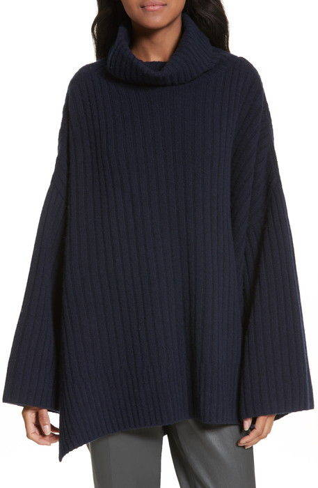 リブ ウール ポンチョ ribbed wool poncho セーター トップス ニット レディースファッション