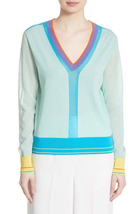 colorblock sweater カラーブロック セーター ニット レディースファッション トップス