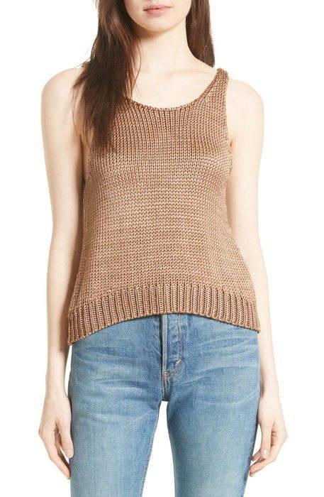 シルク ニット タンクトップ silk knit tank レディースファッション セーター トップス