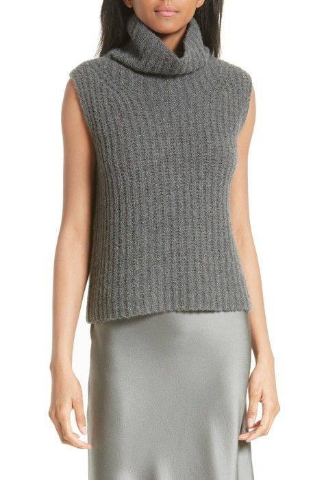ノンスリーブ カシミヤ ブレンド タートルネック sleeveless cashmere blend turtleneck レディースファッション トップス セーター ニット