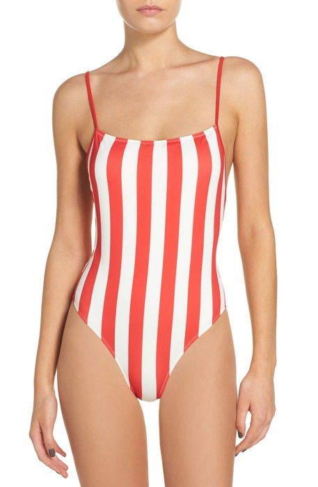 striped solid chelsea onepiece swimsuit ストライプ & ソリッド チェルシー 水着 レディースファッション