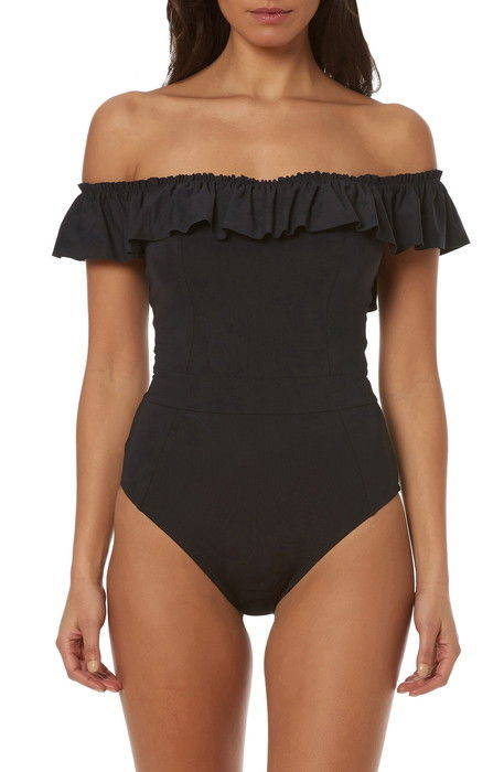 bleu by rod beattie off the shoulder onepiece swimsuit ロッド オフ ショルダー 水着 レディースファッション
