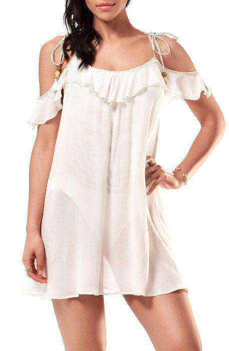 cold shoulder coverup dress コールド ショルダー カバーアップ ドレス ワンピース レディースファッション 水着