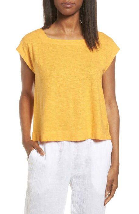 hemp organic cotton knit crop top ヘンプ & オーガニック コットン ニット クロップ トップ トップス カットソー tシャツ レディースファッション