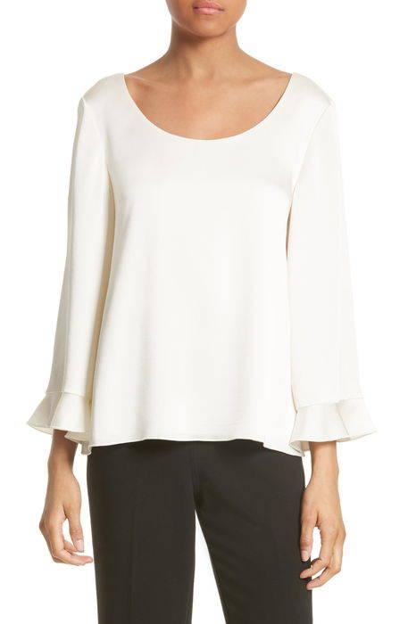 karlotta ruffle sleeve blouse ラッフル スリーブ ブラウス シャツ トップス レディースファッション