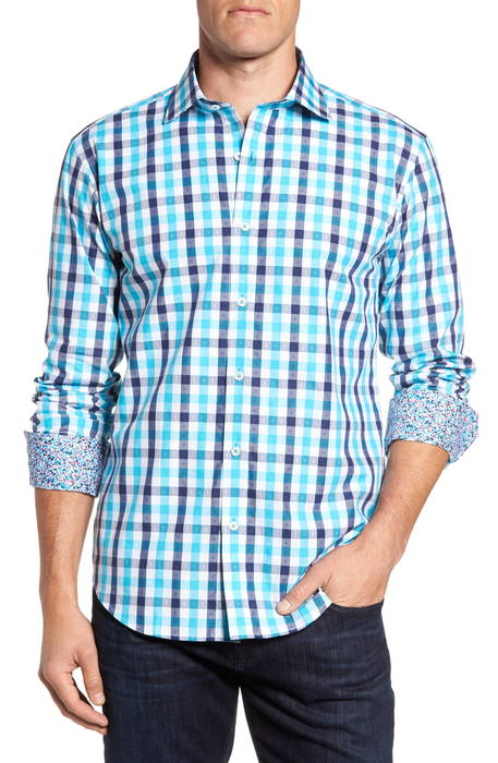 shaped fit check sport shirt シェイプド フィット チェック スポーツ シャツ トップス カジュアルシャツ メンズファッション