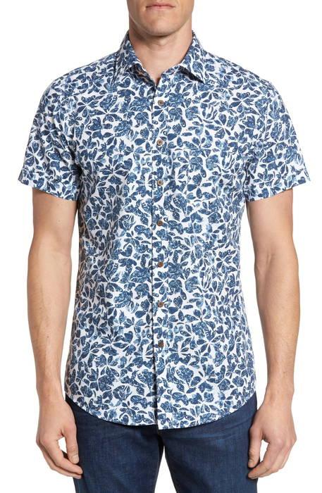 camwell regular fit print sport shirt レギュラー フィット プリント スポーツ シャツ メンズファッション トップス カジュアルシャツ