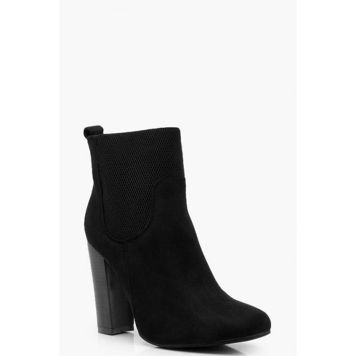 【海外限定】boohoo ブーフー 【 loop back elastic gusset shoe boots 】