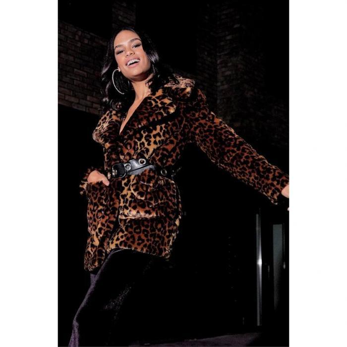 【海外限定】boohoo ブーフー 【 leopard faux fur coat 】