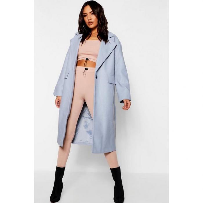 【海外限定】boohoo ブーフー 【 oversized collar coat 】