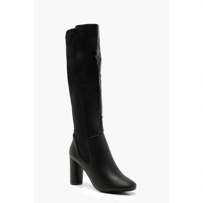 【海外限定】boohoo ブーフー ハイ 【 block heel knee high boots 】