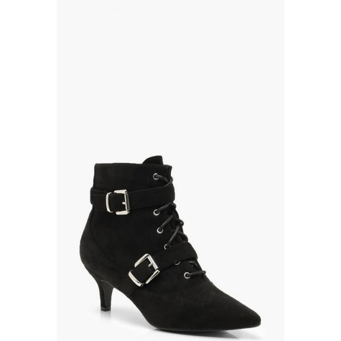 【海外限定】boohoo ブーフー バックル 【 buckle trim pointed shoe boots 】