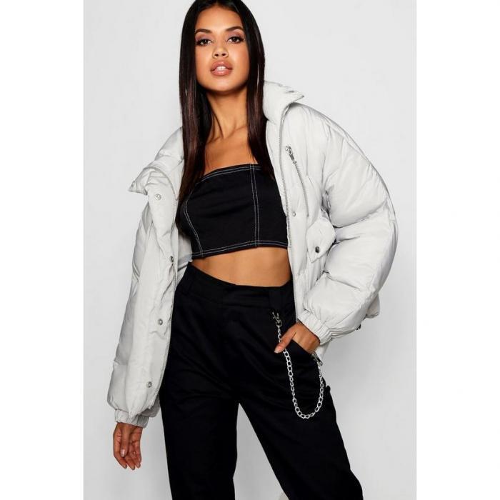 【海外限定】boohoo ブーフー 【 double zip puffer jacket 】
