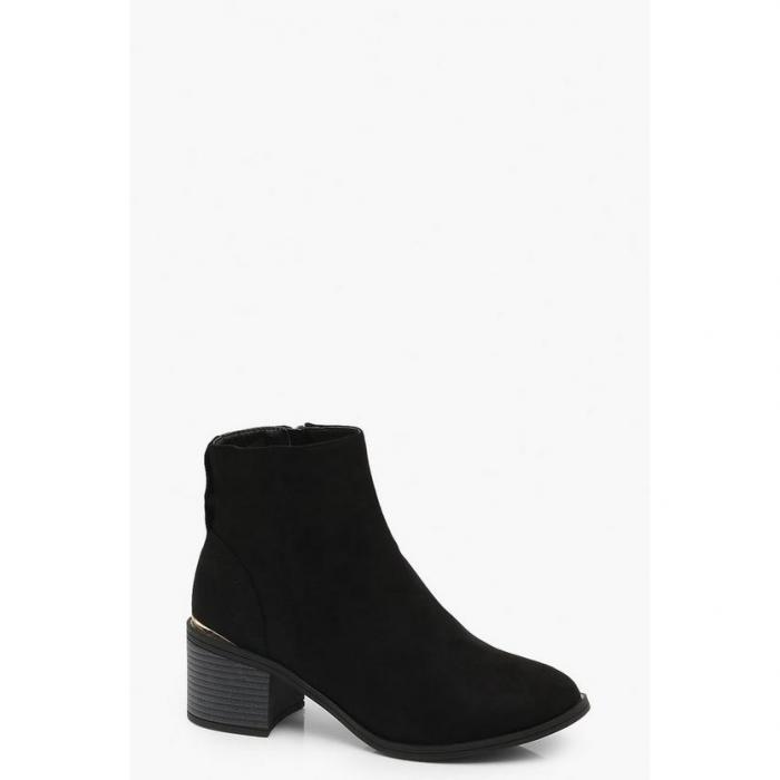 【海外限定】boohoo ブーフー 【 low block heel chelsea boots 】