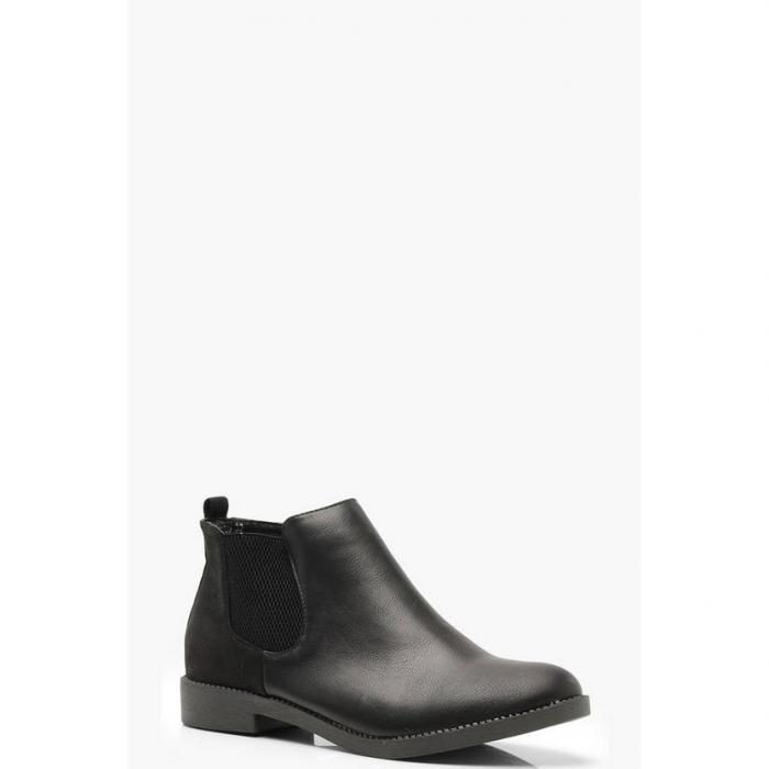 【海外限定】boohoo ブーフー 【 mixed material chelsea boots 】 ブーツ