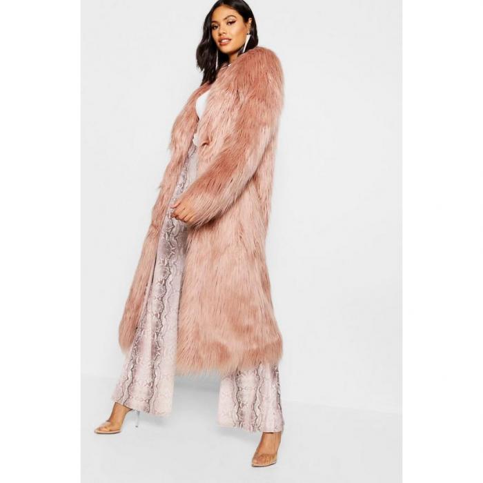 【海外限定】boohoo ブーフー 【 maxi mongolian faux fur coat 】