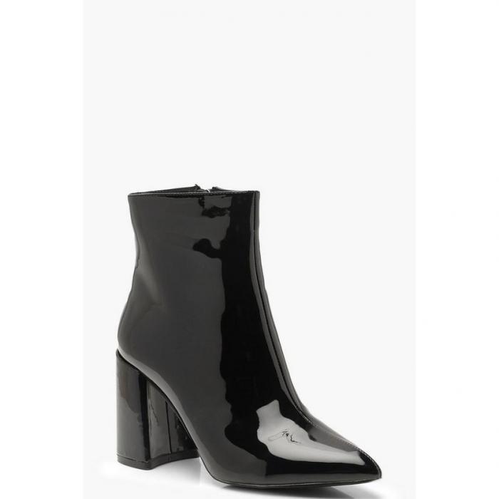 【海外限定】boohoo ブーフー 【 block heel shoe boots 】