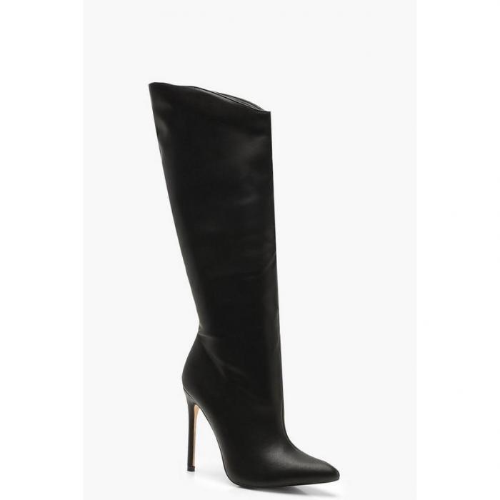 【海外限定】boohoo ブーフー ハイ 【 knee high pointed stiletto boots 】