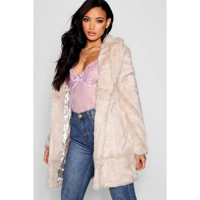 【海外限定】boohoo boutique ブーフー 【 rever collar faux fur coat 】