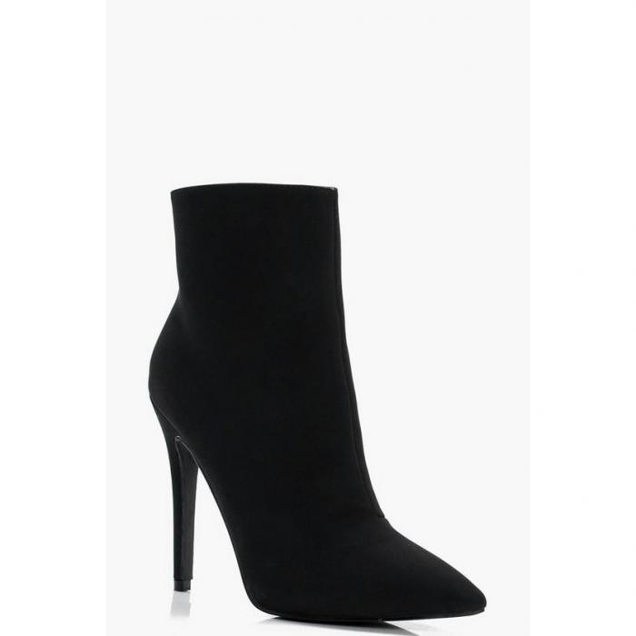 【海外限定】boohoo night ブーフー 【 pointed heeled stiletto sock boots 】 靴