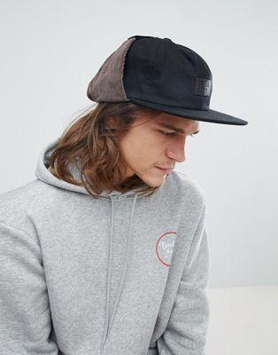 ブリクストン BRIXTON ブリクトン グレード トラッパー キャップ 帽子 黒 ブラック メンズ 男性用 バッグ 【 BLACK GRADE EF TRAPPER CAP 】