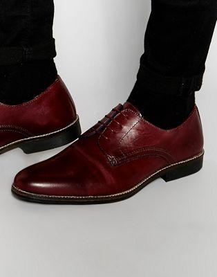 赤 レッド テープ レース アップ シューズ 運動靴 イン ワイン色 バーガンディー レザー メンズ 男性用 靴 メンズ靴 【 RED TAPE LACE UP SHOES IN BURGUNDY LEATHER 】