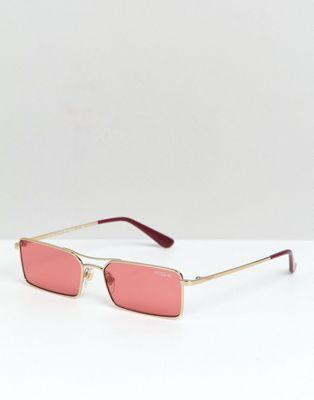 ヴォーグ ジジ スリム フレーム アクセサリー ピンク メンズ 男性用 眼鏡 サングラス 【 SLIM PINK VOGUE X GIGI RECTANGULAR FRAME SUNGLASSES 】