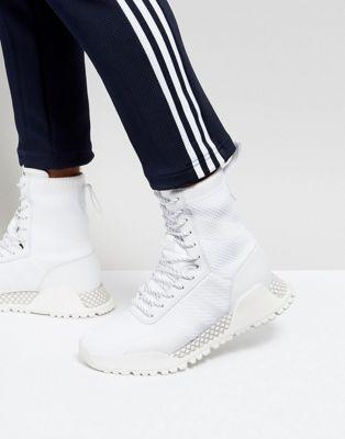 アディダス アディダスオリジナルス ADIDAS ORIGINALS 靴 トレーナー 白 ホワイト オリジナルス メンズ靴 イン 男性用 メンズ H.F 1.3 【 PRIMEKNIT TRAINERS IN WHITE BY3007 】