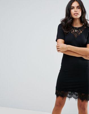 cigaro lace yolk mini dress ミニ ドレス レース y.a.s ヨーク ワンピース レディースファッション