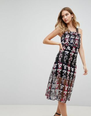 ワンピース ココ & ドレス フローラル ミディ rd koko embrodiered floral midi dress レディースファッション