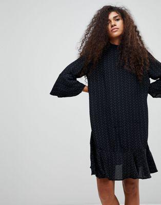 ビーヤング b.young ドレス プリンテット ヘム ワンピース printed peplum hem dress レディースファッション